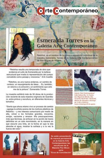 Esmeralda Torres en la Galería de Arte Contemporáneo – Perfil San Miguel de Allende