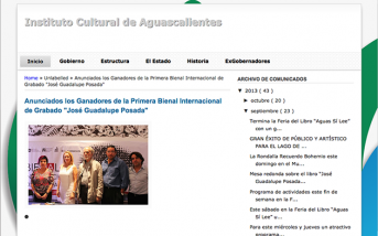 """Anunciados los Ganadores de la Primera Bienal Internacional de Grabado """"José Guadalupe Posada""""  – culturaags.blogspot.mx"""