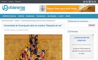 """Universidad de Guanajuato abre la muestra """"Después de ver"""" – poblanerias.com"""