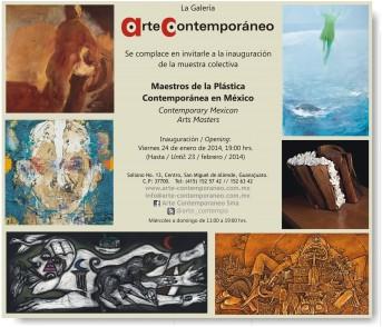 Inauguración: Maestros de la plástica contemporánea en México.