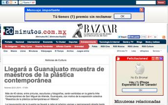 Llegará a Guanajuato muestra de maestros de la plástica contemporánea – 20minutos.com.mx