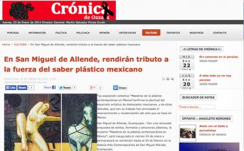 En San Miguel de Allende, rendirán tributo a la fuerza del saber plástico mexicano – cronicaoaxaca.info