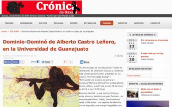 Dominio-Dominó de Alberto Castro Leñero, en la Universidad de Guanajuato – cronicaoaxaca.info