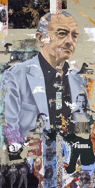 Gilles Lipovetsky (La lógica del desastre), 2014,   Mixta sobre tela,  200 x 100 cms