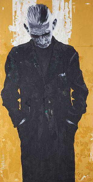 La lógica del desastre (Samuel Beckett),  2014, Mixta sobre tela 200 x 100 cms