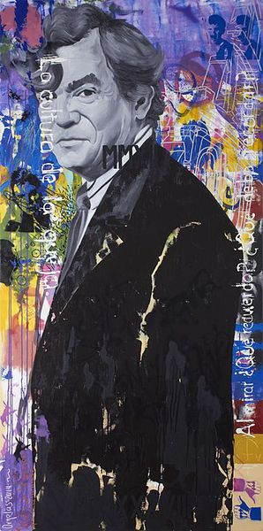 La lógica del desastre (Samuel Beckett), (2014), Mixta sobre tela, 200 x 100 cms