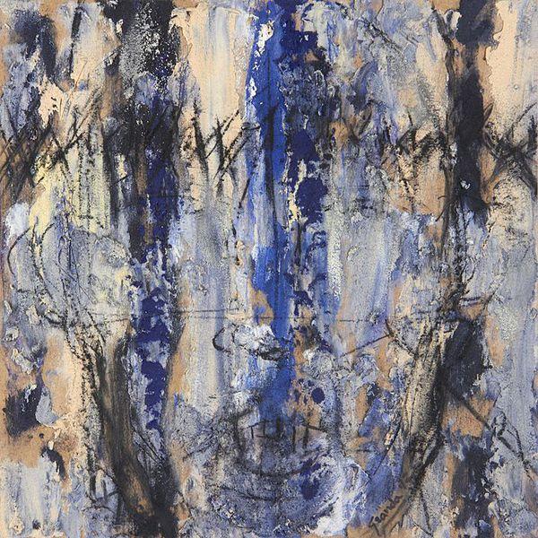 Sobras y Dudas 2 (2014), Mixta sobre tela, 50 x 50 cms.