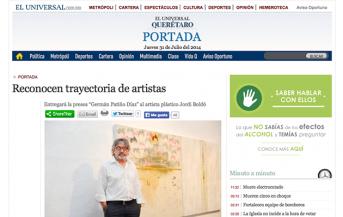 """Reconocen trayectoria de artistas. Entregará la presea """"Germán Patiño Díaz"""" al artista plástico Jordi Boldó – eluniversalqueretaro.mx"""