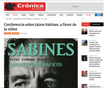 Conferencia sobre Jaime Sabines, a favor de la niñez – cronicadeoaxaca