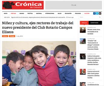 Niñez y cultura, ejes rectores de trabajo del nuevo presidente del Club Rotario Campos Elíseos – cronicadeoaxaca.com