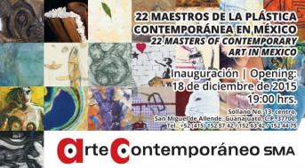 Inauguración: 24 Maestros de la Plástica Contemporánea en México. Dibujo, pintura, escultura, gráfica y fotografía.