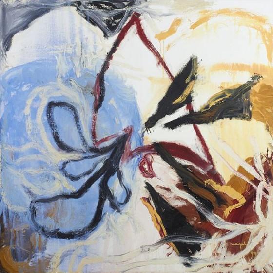 La voz (1999), Magali Lara, óleo sobre tela, 150 x150 cm.