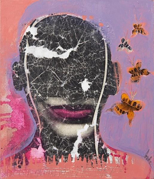 Autoretrato (2012), Beverley Ashe, Mixta sobre tela, 35 x 30 cm