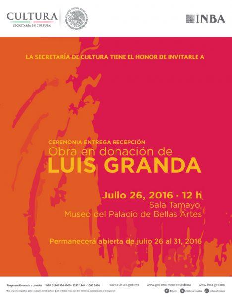 Invitacion Ceremonia entrega-recepcion Luis Granda