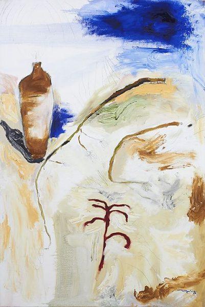 El ojo del mundo (1997), Magali Lara, Óleo sobre tela, 120 x 80 cm