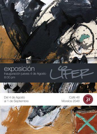 Invitación a la exposición de Lifer en Café 48, Guadalajara, Jalisco