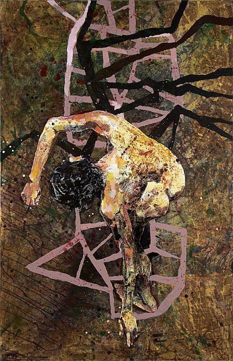 Un escudo para el amor (2012), Alberto Castro Leñero, Acrílico sobre tela, 170 x 110 cms