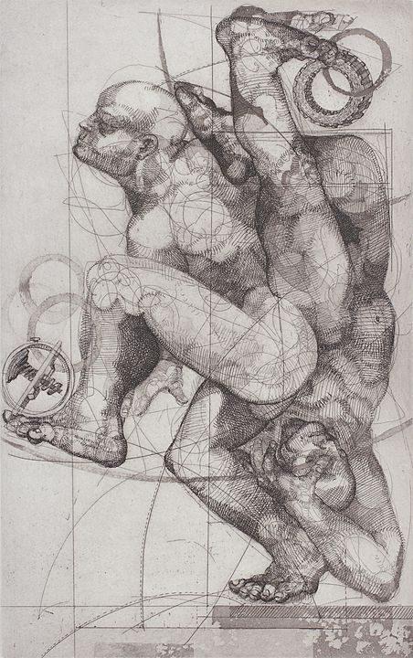 Caminante II (2013), Flor Minor, Aguafuerte, aguatinta y azúcar, 30 x 19 cm