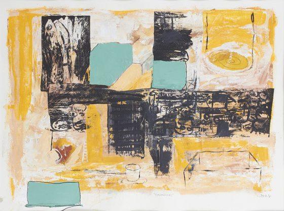 Premoniciones (2016), Lifer, Acrílico sobre papel, 56 x 76 cm