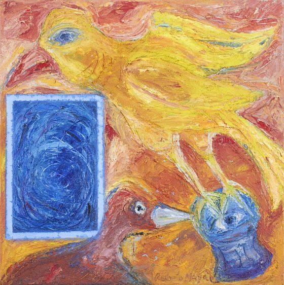 2017 - Rubén Maya, Amarillo de pájarando, Óleo sobre tela, 50 x 50 cm