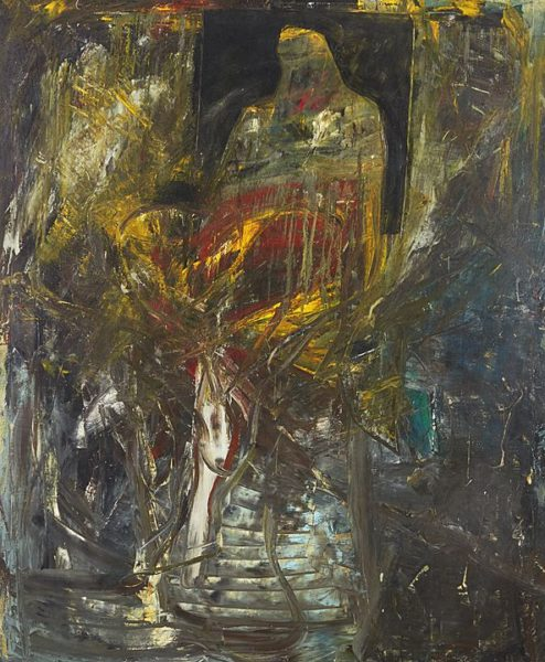 1989 - Luciano Spanó, Derecho Hereditario, Óleo sobre tela, 175 x 145 cm