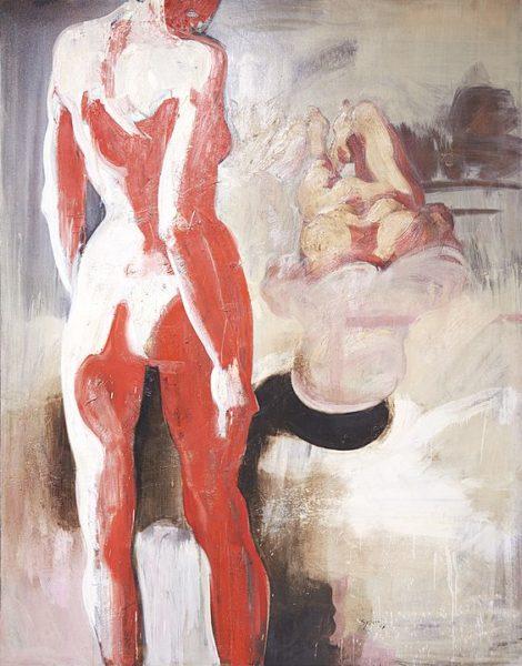 1996 - Luciano Spanó, Canción para una amor, Óleo sobre tela, 250 x 200 cm