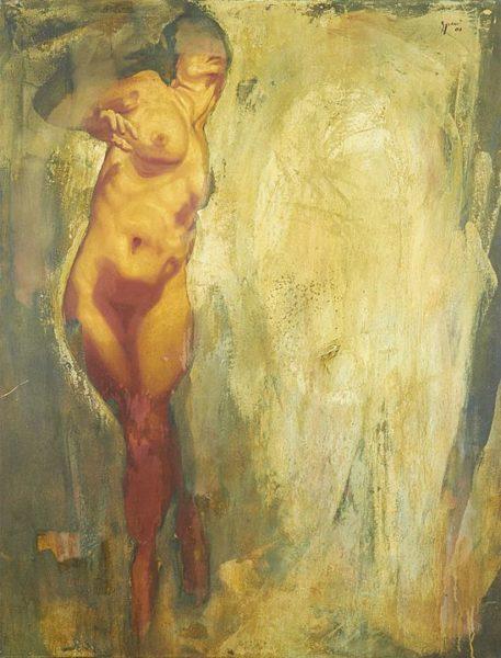 2001 - 2003 - Luciano Spanó, Mujer, Óleo sobre tela, 170 x 130 cm