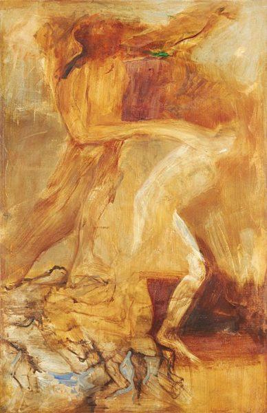 2002 - Luciano Spanó, La libertad, Óleo sobre tela, 200 x 130 cm