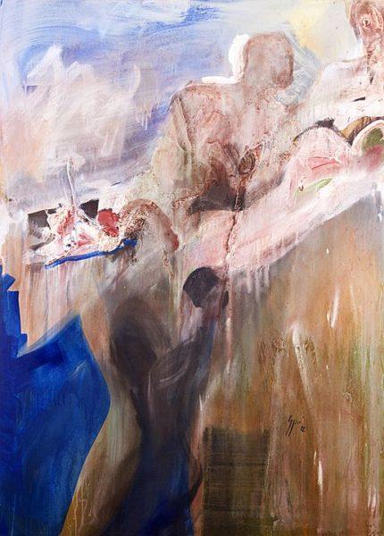 2012 - Luciano Spanó, Flores Crecen, Acrílico sobre tela, 180 x 130 cm