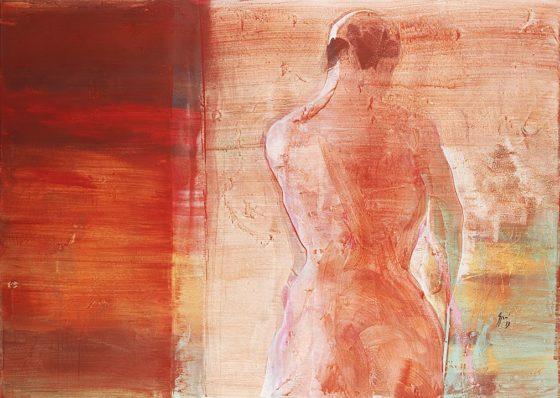 2013 - Luciano Spanó, Mujer, Acrílico sobre tela, 130 x 180 cm