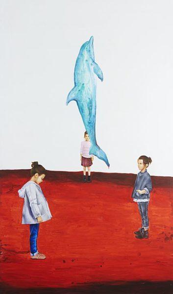 2016 - Marisela Peguero, Abulia, Acrílico sobre tela, 200 x 120 cm