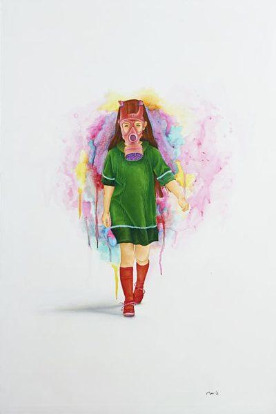 2016 - Marisela Peguero, De paseo, Acrílico sobre tela, 120 x 80 cm