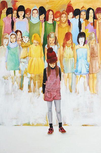 2016 - Marisela Peguero, Testigos sordos, Acrílico sobre tela, 120 x 80 cm cm