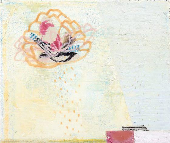 2018 - Esmeralda Torres, Estudio para apuntar el día X, Mixta sobre manta, 25 x 30 cm