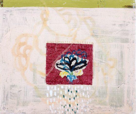 2018 - Esmeralda Torres, Estudio para apuntar el día cc, Mixta sobre manta, 25 x 30 cm
